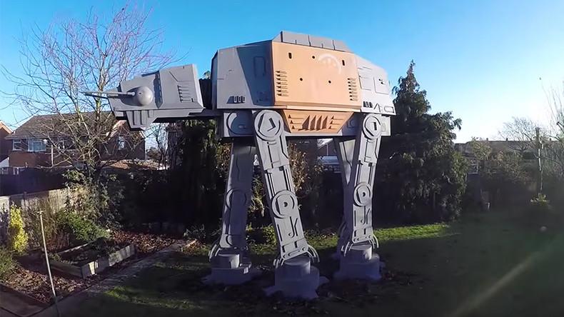 Inventor unveils stunning 'Star Wars' AT-AT walker replica