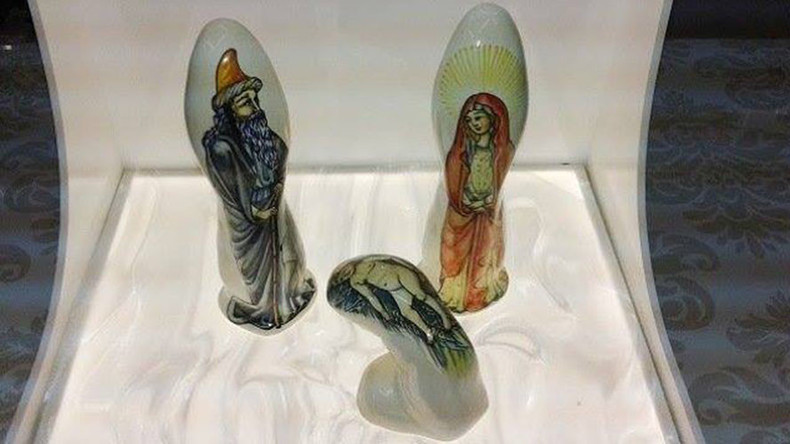 Jesus, Mary and dildos! Spanish sex shop threatened over erotic nativity display