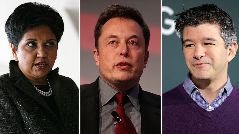 Tech support: Tesla, Uber & Pepsi CEOs join Trump's advisory council