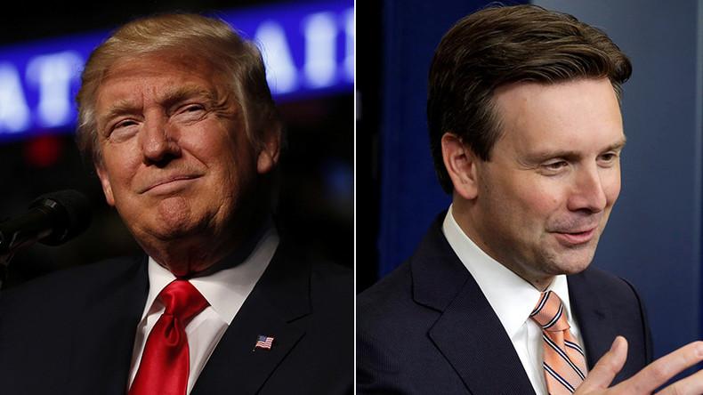 'He's so bad': Trump slams 'foolish' White House Press Secretary Josh Earnest (VIDEO)