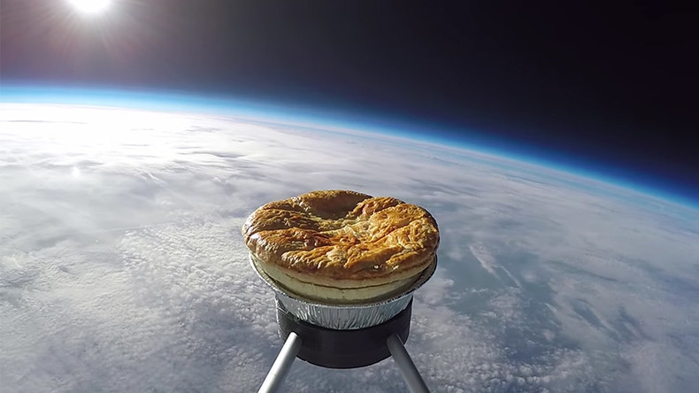 Pie-oneering meat pastry makes bold journey into space (VIDEO)