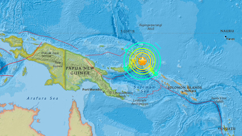 Tsunami 'threat' after 7.9 magnitude quake hits off Papua New Guinea