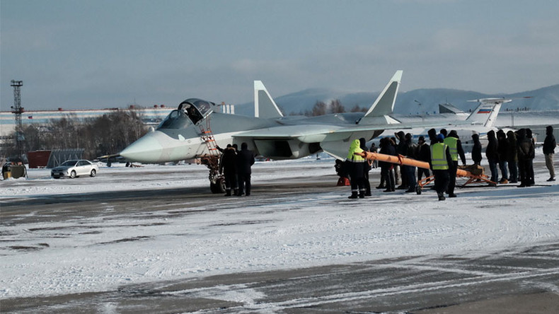 New photos reveal Russian advanced T-50 fighter plane test-flying