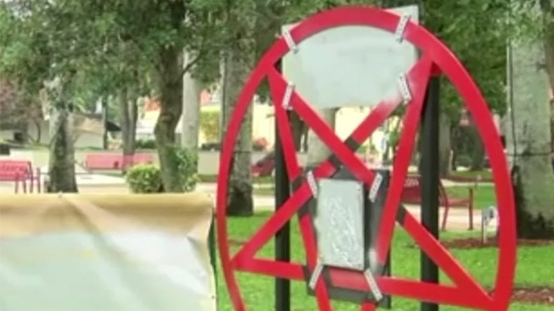 Florida vandals can't handle satanic pentagram next to nativity scene