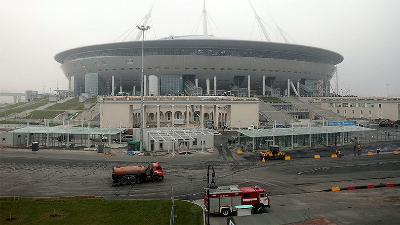 1st football match announced for St. Petersburg's costly World Cup stadium