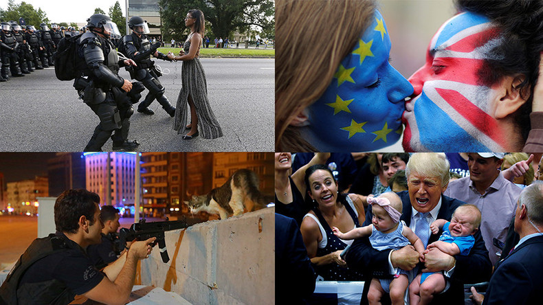 Curious cats, hijab volleyballers & DAPL violence: 2016 in photos