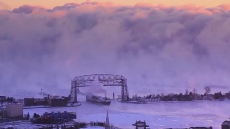 Superior fog: Menacing misty wall blankets largest of Great Lakes (VIDEO)