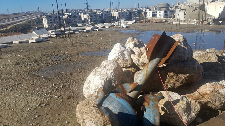 Russian sappers sweep Aleppo for mines, discovering shells made in US, Germany (VIDEO)