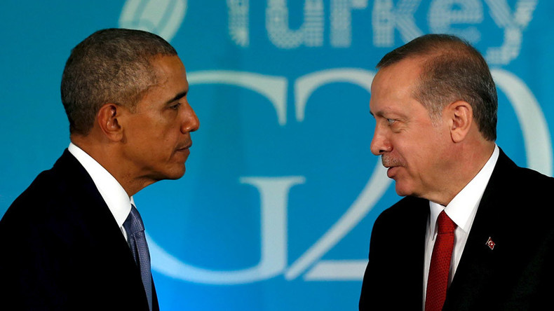 'Erdogan's accusations of US supporting terrorists a parting shot for Obama'