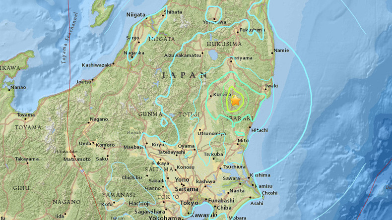 5.9 magnitude earthquake strikes Japan - USGS