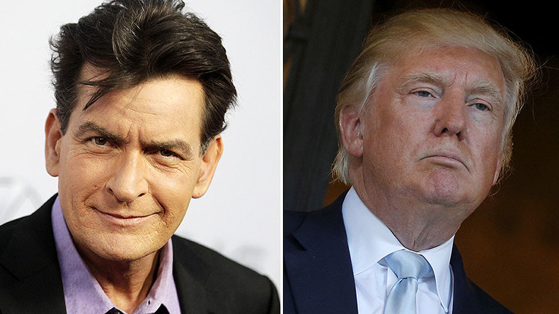 Charlie Sheen defends tweet wishing death to Trump; says he was talking to God