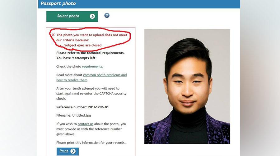 'Racist' passport machine accuses Asian man of having eyes closed