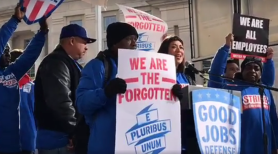 Sanders, Ellison, Glover lead 'Good Jobs Nation' rally in DC