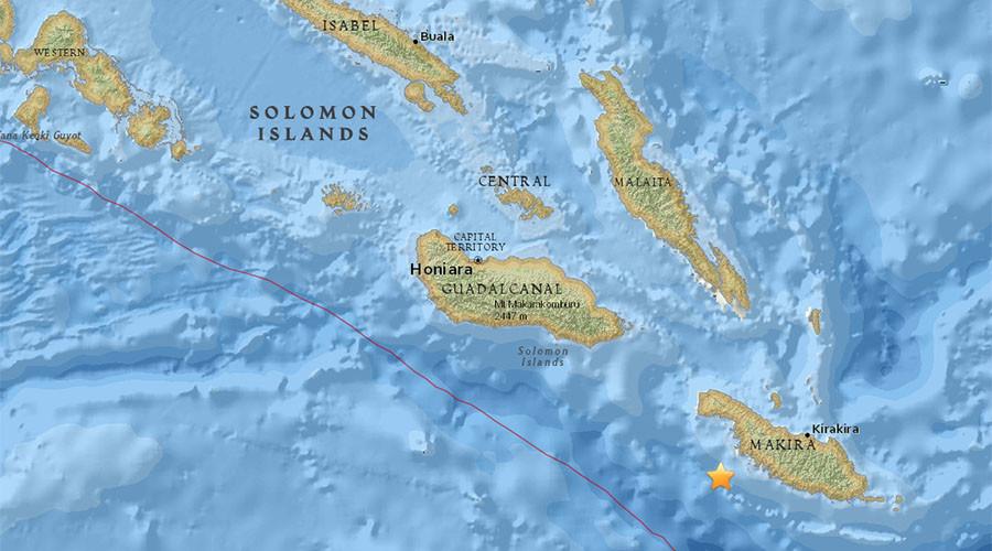Tsunami warnings after 7.8 quake strikes off Solomon Islands' coast