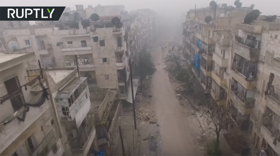 Drone footage shows devastation of deserted eastern Aleppo (EXCLUSIVE VIDEO)