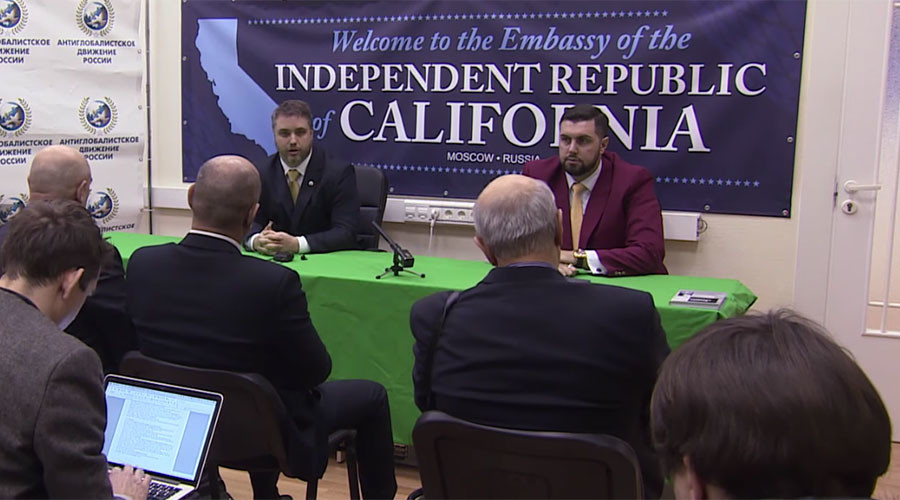 'Calexit': Yes California movement opens 'embassy' in Moscow