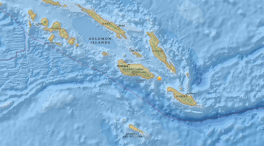 6.7 quake strikes off Solomon Islands
