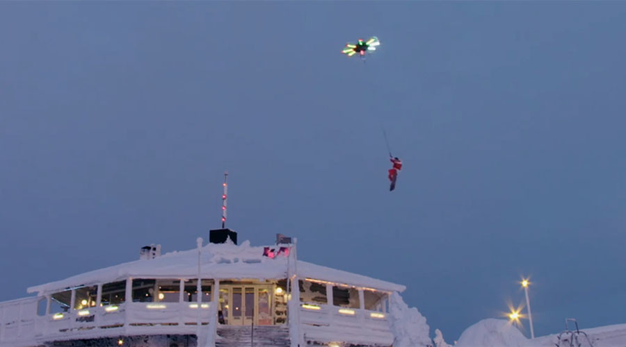 Snowboarder uses drone to fly 25 feet into air (VIDEO)