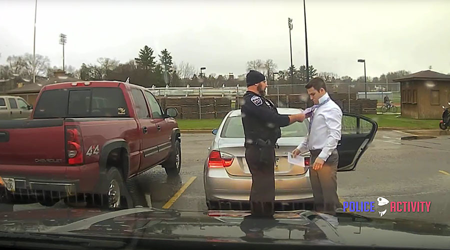 Cop ties speeder up: Knot what you think (VIDEO)