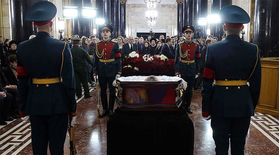Slain Russian ambassador Karlov laid to rest in Moscow, named hero posthumously