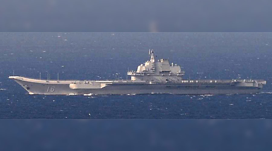 Chinese aircraft carrier, 5 warships pass Taiwan on way to S. China Sea drills