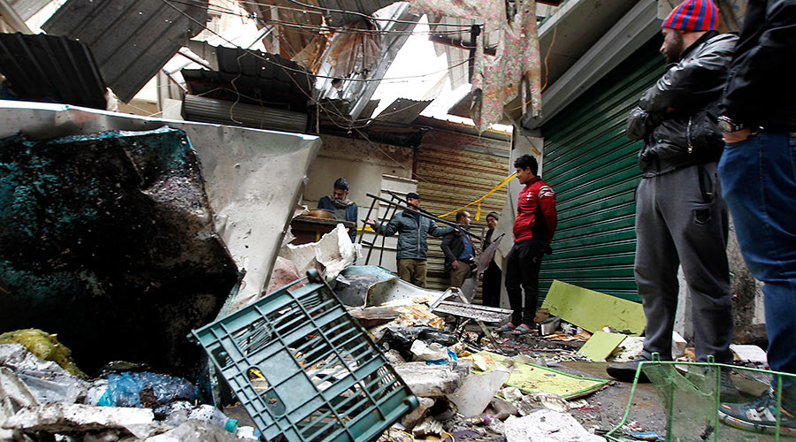 At least 25 dead, 50+ injured as twin blasts hit shopping area in Baghdad (VIDEO)