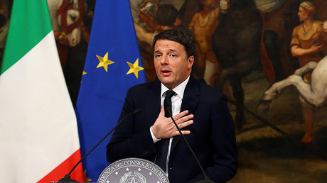 Italian Prime Minister Matteo Renzi speaks during a media conference after a referendum on constitutional reform at Chigi palace in Rome, Italy, December 5, 2016. © Alessandro Bianchi