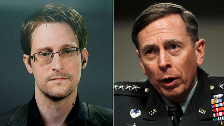 Snowden: Ex-CIA Director Petraeus 'shared far more classified info than I ever did'