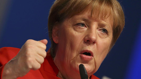 German Chancellor and leader of the conservative Christian Democratic Union party CDU Angela Merkel. © Kai Pfaffenbach