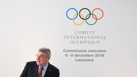 International Olympic Committee (IOC) President Thomas Bach speaks at the opening of an executive meeting on December 6, 2016 in Lausanne. © Fabrice Coffrini
