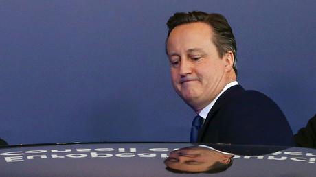 Former British Prime Minister David Cameron. ©Yves Herman