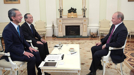 Russian President Vladimir Putin interviewed by Nippon Television Network Corporation and Yomiuri Shimbun in the run-up to his official visit to Japan. © Kremlin.ru