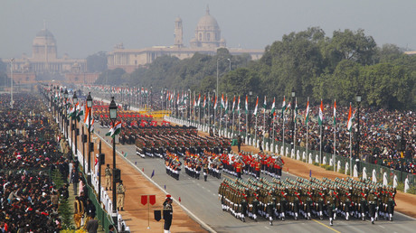 Indian soldiers march during the Republic Day parade in New Delhi. File photo. © B Mathur