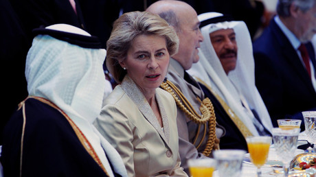 Germany's Defence Minister Ursula von der Leyen attends the IISS Regional Security Summit