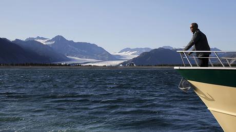 US President Barack Obama at Kenai Fjords National Park, Alaska September 1, 2015 © Jonathan Ernst