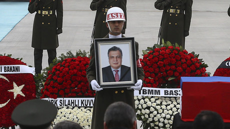 Farewell ceremony for Russian Ambassador Andrei Karlov in Ankara Airport. © Anadolu Agency