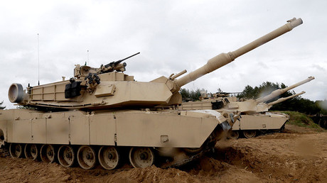 FILE PHOTO. U.S. M1 Abrams tanks. © Ints Kalnins
