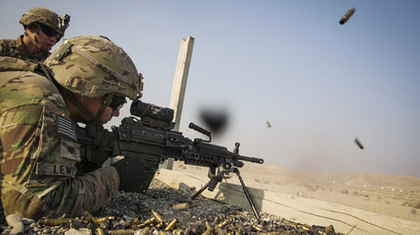 FILE PHOTO: A U.S. soldiers © Lucas Jackson