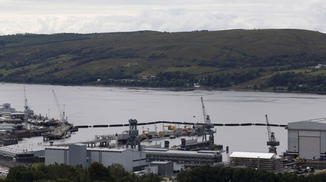 Submarines at the Royal Navy's Clyde Naval Base © Russell Cheyne