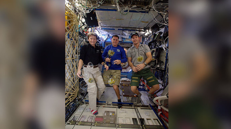 Out of this world: How the ISS crew rang in the new year (PHOTOS)
