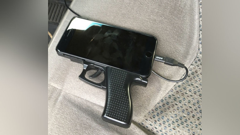 Cellphone cover shaped like gun causes police standoff in California