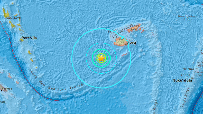 Massive quake off Fiji triggers tsunami warning within 300km radius