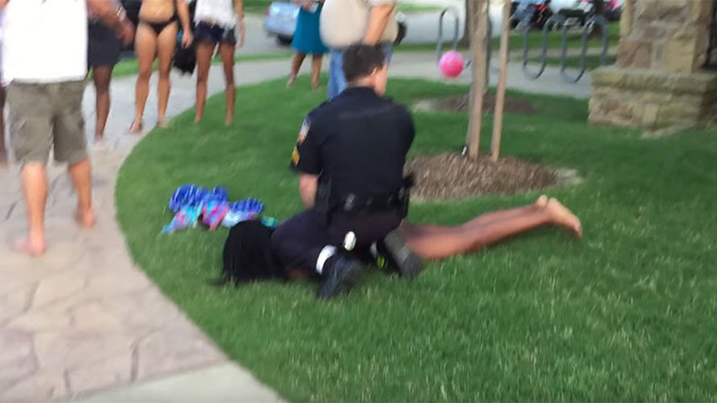 Teen sues cop who tackled her, city for $5mn over McKinney pool party incident