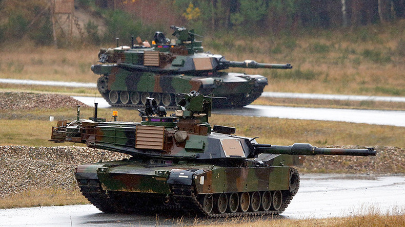 100's of US tanks, heavy equipment flow into Europe to counter 'Russian aggression'
