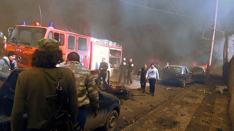 Up to 60 killed, dozens injured after car bomb blast in northern Syrian border town – reports
