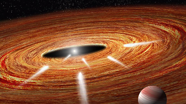 Huge planet hurling comets to their doom in nearby solar system - NASA
