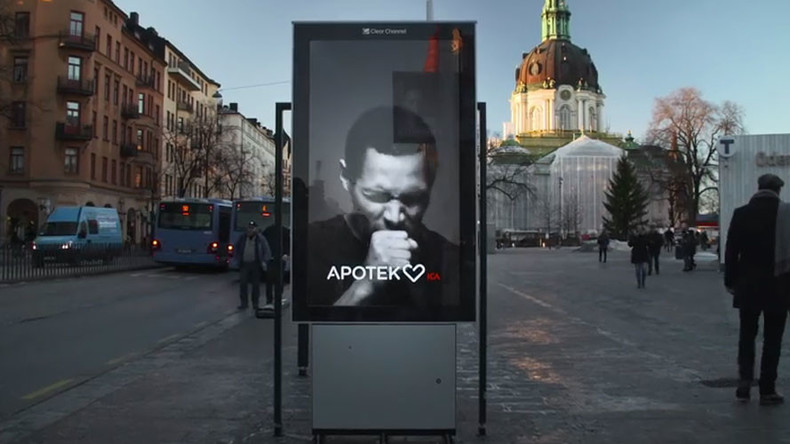 Swedish anti-cigarette billboard 'coughs' when smokers walk by (VIDEO)