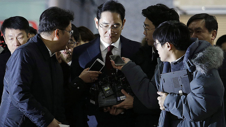 Samsung chief questioned as suspect in national corruption scandal
