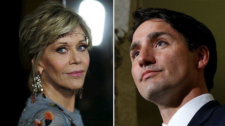 'Don't be fooled by good-looking liberals': Jane Fonda trashes Trudeau over pipelines