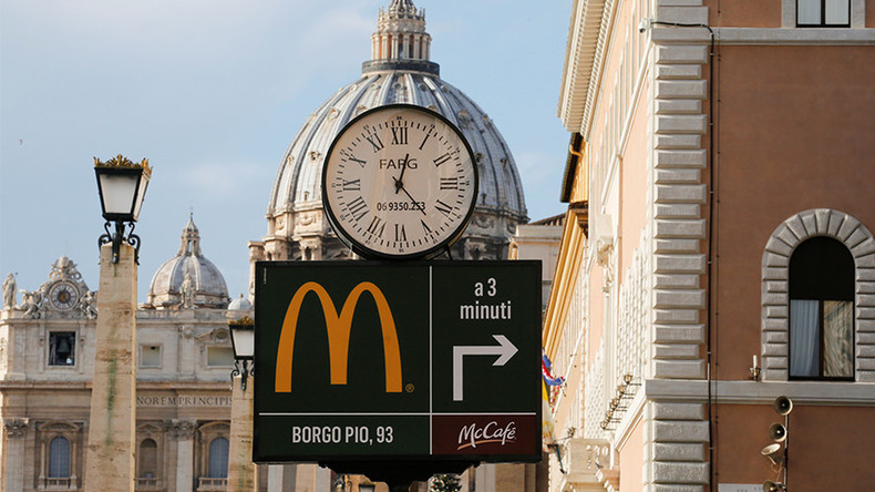 Vatican McDonald's to give free meals to the poor
